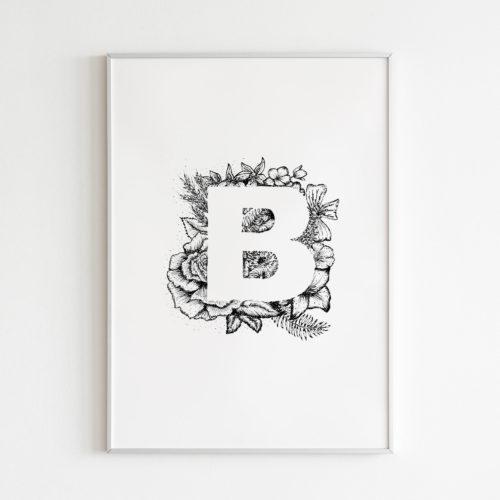 Poster Buchstabe B